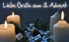 Advent, Advent, drei Lichtlein brenn'   Wir wünschen euch al…