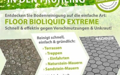 Mit unserem Steinreiniger Floor Bioliquid Extrem Terrasse…