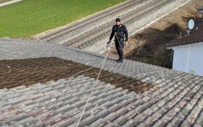 So schaut es aus wenn die Dachprofis sich auf dem Dach sic…